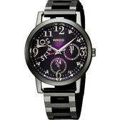 WIRED f 魔幻佳人時尚手錶-紫x鍍黑/34mm 5Y66-X005T(AN7023X)