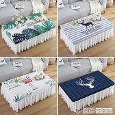 餐桌布-北歐桌布布藝蕾絲防水長方形茶幾布套餐桌墊臺布書桌電視柜防塵罩 莫妮卡小屋