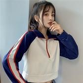 長袖上衣 短款衛衣女裝2021新款春秋季韓版寬鬆薄款長袖上衣運動外套ins潮 韓國時尚週