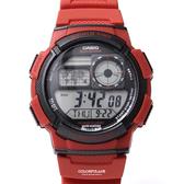 CASIO卡西歐 紅色電子手錶【NEC3】原廠公司貨