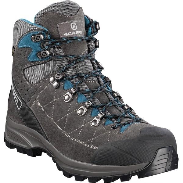 義大利【SCARPA】 Kailash Trek 中性 中筒 GTX 登山鞋 (鯊魚灰-灰-湖水藍)