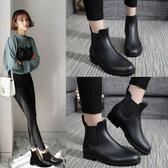 短筒雨鞋女雨靴防水膠鞋防滑切爾西【步行者戶外生活館】