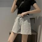 運動短褲女夏季薄款三分褲寬鬆純棉外穿跑步休閒高腰寬管ins潮 【端午節特惠】