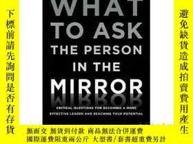 二手書博民逛書店要問鏡子裏的人什麽罕見英文原版 What to Ask the Person in the Mirror 羅伯特史