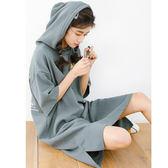 $399出清專區 韓系小清新甜美休閒連帽字母短袖洋裝