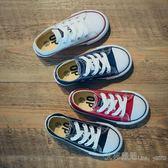 OPOEE兒童帆布鞋親子鞋球鞋男童 女童鞋子寶寶嬰兒板鞋白色韓 艾莎嚴選
