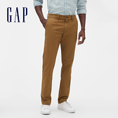 Gap男裝 棉質微彈修身款休閒褲 500357-棕色