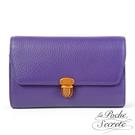 La Poche Secrete斜背包 簡約真皮荔枝紋隨身側背斜背包-魅力紫 WTM-2137