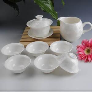 白綠結晶釉茶具