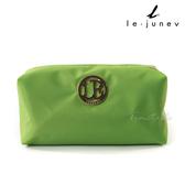 le-junev 金色圓牌彩虹化妝/手拿包-黃綠色 (L1183-Yellow Green)