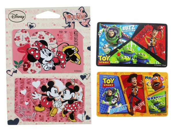 【卡漫城】 迪士尼 悠遊卡 貼紙 任選二組 ㊣版 玩具總動員 胡迪巴斯 票卡貼 卡片貼 米奇米妮