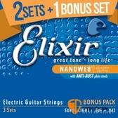 Elixir 電吉他弦 三包裝 Nanoweb(16540)(09-42)  【Elixir弦/吉他弦】
