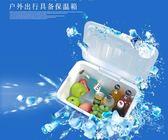 汽車冰箱13L保溫箱冷暖箱 車載家用迷妳冷藏箱戶外用品『米菲良品』