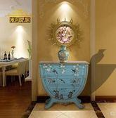 鬥櫃 歐式門廳櫃玄關櫃子隔斷櫃彩繪美式鬥櫃創意家具裝飾櫃地中海家具 非凡小鋪 JD