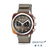 BRISTON SPORT 賽車計時錶 時尚灰 折射光感 玳瑁框 百搭 男士經典款 禮物首選
