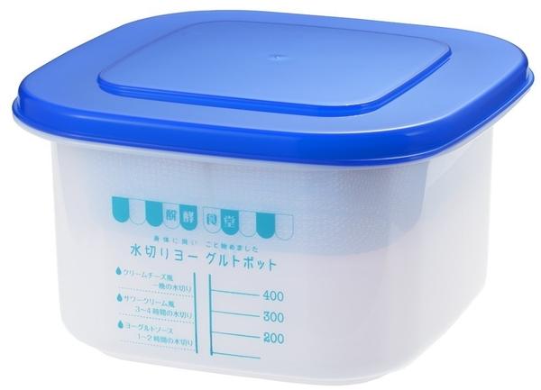 日本製 吉川 優格 水切容器 SJ1884 醗酵食堂 瀝水器 濾水器 乳清起司 親子Kefir克菲爾【小福部屋】
