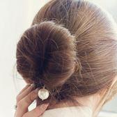 韓版丸子頭盤發器發飾花苞頭編發工具扎頭發飾品造型器頭飾二件套
