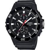 【CASIO】卡西歐 DIVER LOOK 潛水運動風手錶-黑 MRW-400H-1AVDF