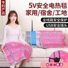 電熱毯usb電熱毯學生宿舍單人低壓5v充電寶接口便攜戶外工地加熱電褥 源治良品