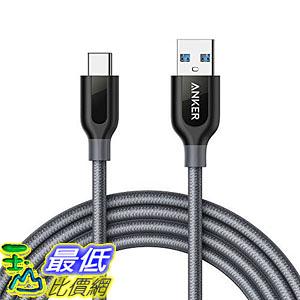 [7美國直購] 充電線 USB Type C Cable, Anker PowerLine+ USB C to USB 3.0 cable (6ft), High Durability B01M5GMZ6X