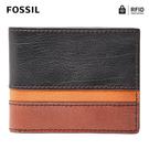 FOSSIL EASTON 真皮RFID防盜證件格皮夾-黑色 SML1434016
