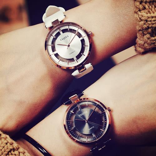 韓版 創意 鏤空 透明 情侶 對錶 手錶 [W094]