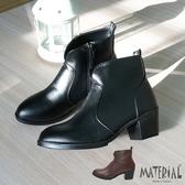 短靴 素面拼接質感短靴 MA女鞋 T0589
