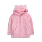 Gap女嬰甜美純色熊耳造型連帽衫567714-經典粉紅色