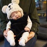 秋冬寶寶毛帽嬰兒針織帽男女寶寶護耳套頭帽兒童保暖帽