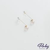 耳環 韓國直送‧垂墜水鑽矽膠耳鉤式耳環-Ruby s 露比午茶