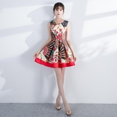 旗袍晚禮服女2019新款夏季時尚短款名媛派對聚會洋裝小禮服連身裙Mandyc