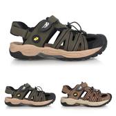 LOTTO 男排水護趾涼鞋(反光 休閒 海邊 戲水 水陸鞋 拖鞋≡體院≡ LT0AMS163