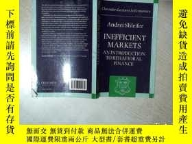 二手書博民逛書店ANDREI罕見SHLEIFER INEFFICIENT MARKETS An Introduction to B