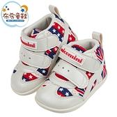 《布布童鞋》台灣製英國國旗紅色中筒寶寶機能學步鞋(13~15公分) [ Z1CG15A ]