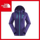 【The North Face 女 刷毛保暖兜帽外套《石榴紫》】CUK5/保暖/戶外/休閒