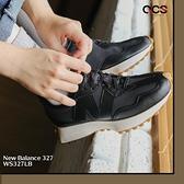 New Balance 327 黑 皮革 膠底 女鞋 NB 休閒鞋 百搭款【ACS】 WS327LB-B