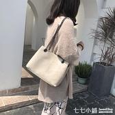 2019新款手提包韓版菱格鏈條包單肩斜挎包大包包女小香風子母包包