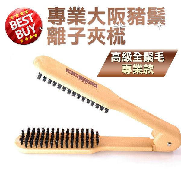 專業大阪豬鬃離子夾梳  離子梳 另售離子夾 電棒【HAiR美髮網】