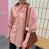 襯衫女復古氣質寬鬆韓版寬鬆長袖外套顯瘦上衣【橘社小鎮】