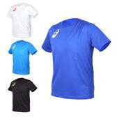 ASICS 男女限量運動排汗LOGO短袖T恤(免運 慢跑 路跑 亞瑟士≡排汗專家≡