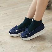 女款 韓系流蘇厚底莫卡辛 厚底鞋 鬆糕鞋 MIT製造 藍色 59鞋廊