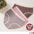 《VB0535》大尺碼限定-純棉坑條撞色包邊內褲 OrangeBear