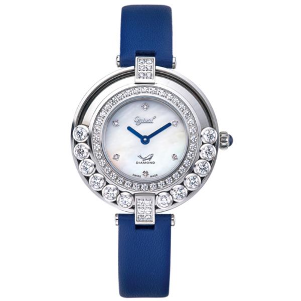 Ogival愛其華 流星系列-流光瀲灩珠寶錶-藍x白 380-45.1DLW
