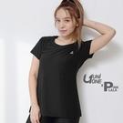 粉紅拉拉【PUNI677001】UNIONE 彈力花紗圓領剪接T 台灣製 MIT 女生運動T恤 運動上衣 S-XL