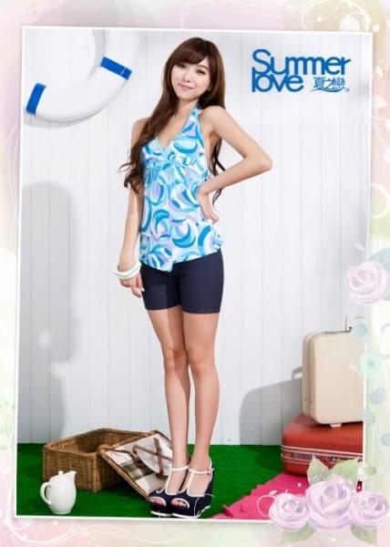 【SUMMERLOVE夏之戀】藍海風情長版二件式泳衣-S15710