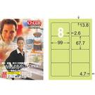 【奇奇文具】龍德 LD-862-G-A 淺綠 8格 三用標籤105入