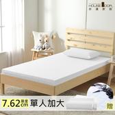 House Door 防黴防蹣抗菌7.62cm記憶床墊保潔超值組-單大