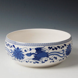 陶瓷杯青花瓷/蘭鳳凰