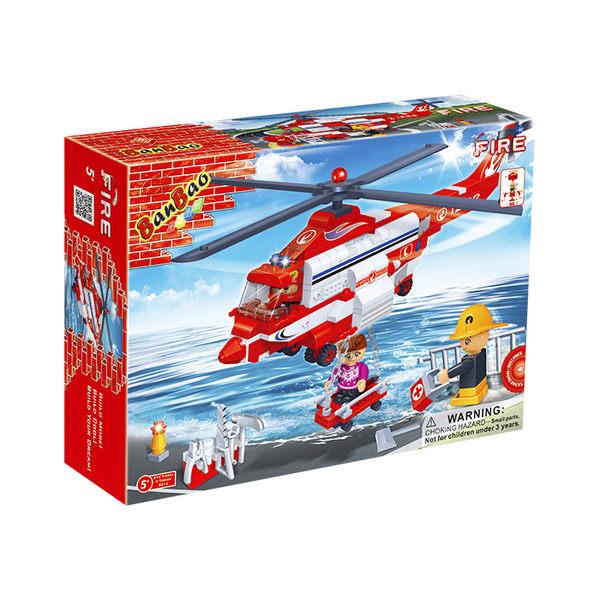 消防系列 NO.8315直升機(與樂高Lego相容)【BanBao邦寶積木楚崴】