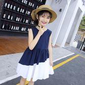 女童裙子夏季洋氣兒童洋裝中大童小女孩公主裙2019夏裝新款韓版